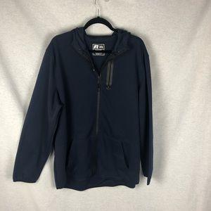 Navy blue Russel Zip up Sweatshirt